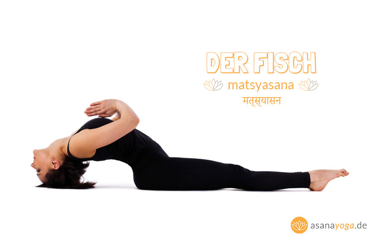 Matsyasana Yoga Übung