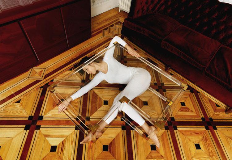 Urban Yoga Projekt Madrid, Calle de Toledo im Glastisch