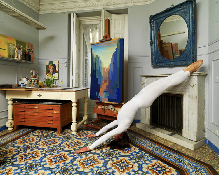 Urban Yoga Projekt Madrid, Calle de Toledo im Wohnzimmer