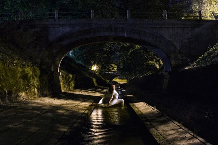Urban Yoga Projekt im Kanal in Ljubljana
