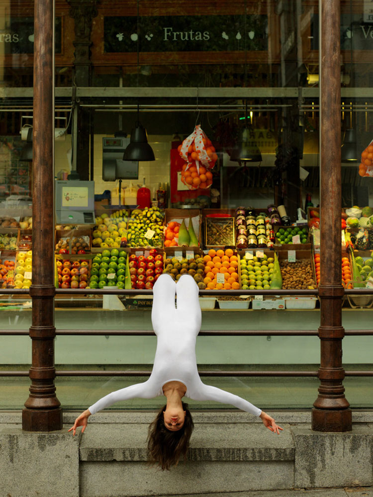 Urban Yoga Projekt Madrid, Mercado San Miguel Gemüsemarkt