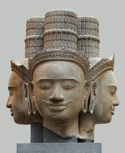4 Köpfe von Brahma