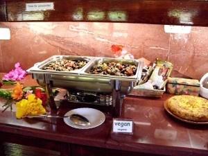 Veganes Essen in der Casa el Morisco