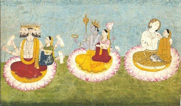 Trimurti - Brahma, Vishnu und Shiva