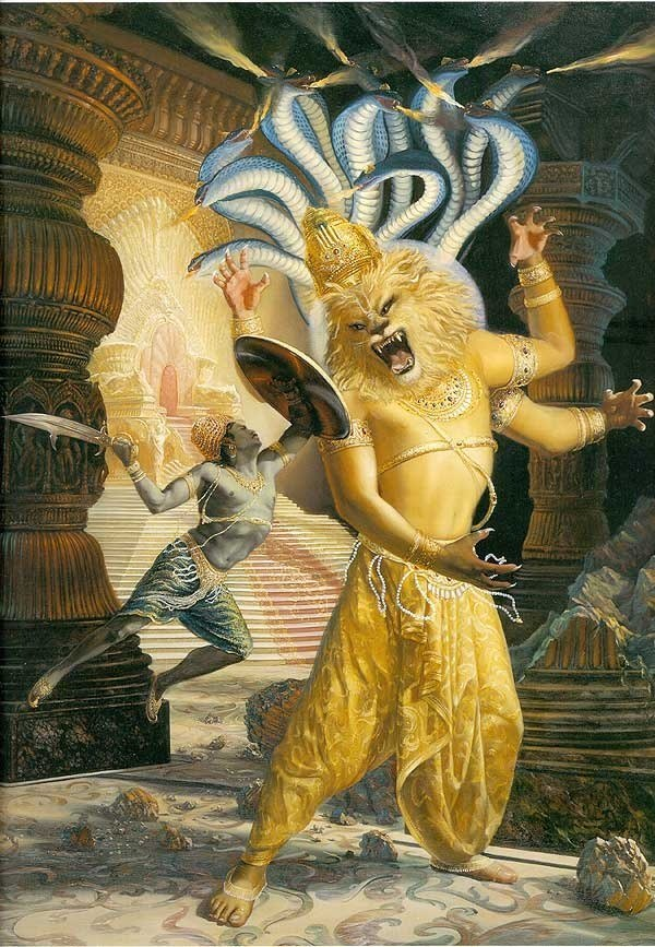 Vishnu Avatar Löwe
