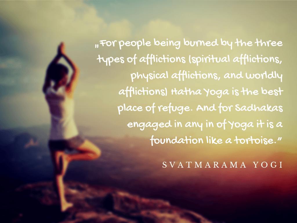 Hatha Yoga Zitat