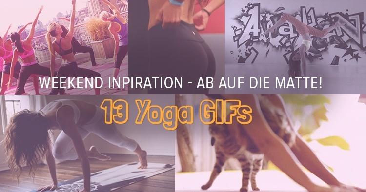 13 Lustige Yoga Gifs Bringen Dich Ins Wochenende