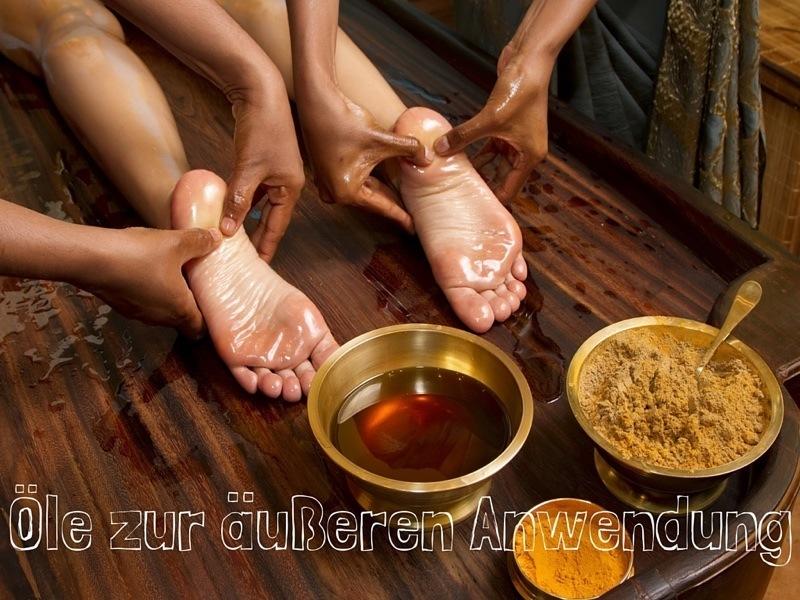 Ayurveda Öle zur äußeren Anwendung