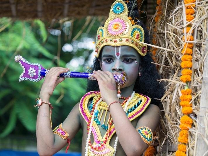 Krishna als Kind