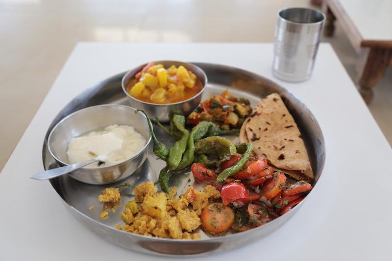 Ashram in Indien Mahlzeiten