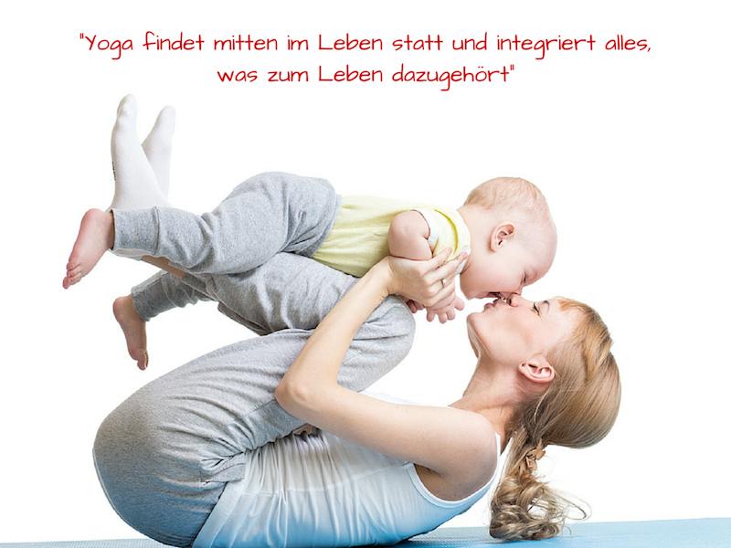 Yoga mit Baby Zitat