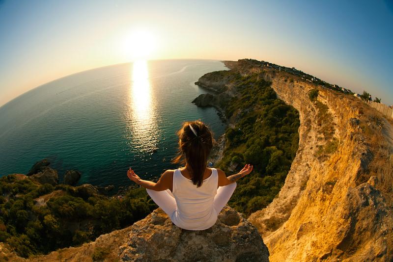 yoga und musik - berge