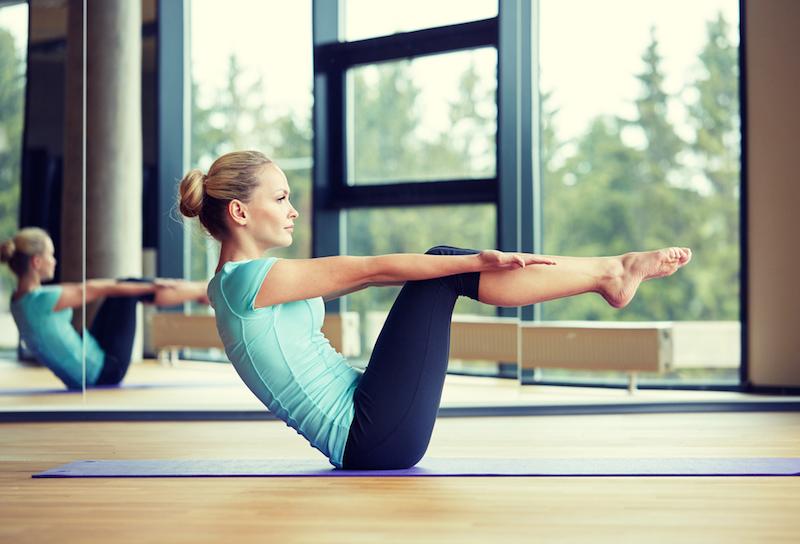 Pilates Guide Frau Uebung