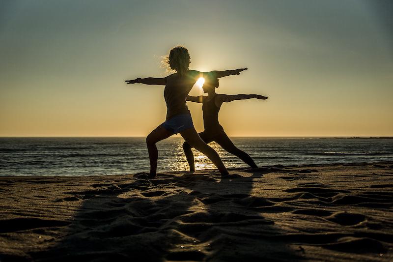 Surfen und Yoga Malte Stock