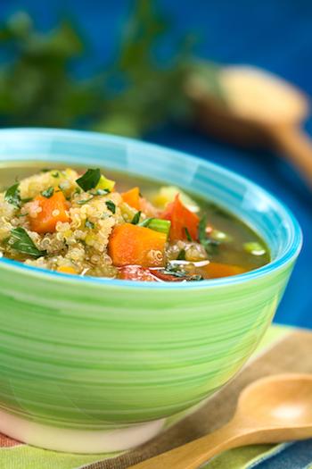 Kohlenhydratarme Lebensmittel Quinoa Lauch Pfanne