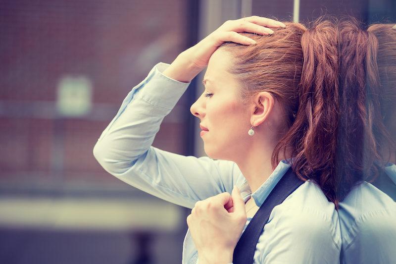 Stirnguss Stress im Alltag