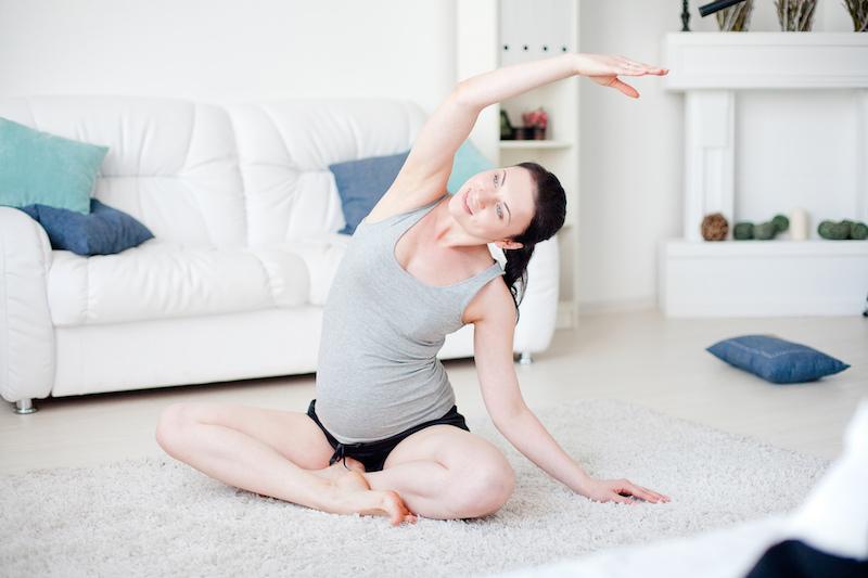 Urlaub fuer die Seele Yoga zu Hause