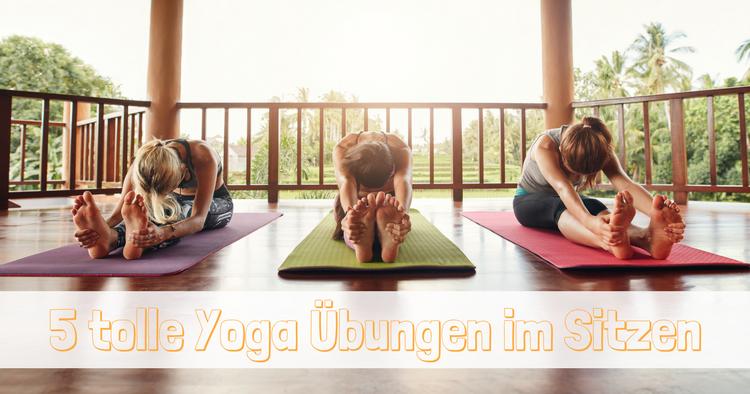 Yoga Uebungen im Sitzen