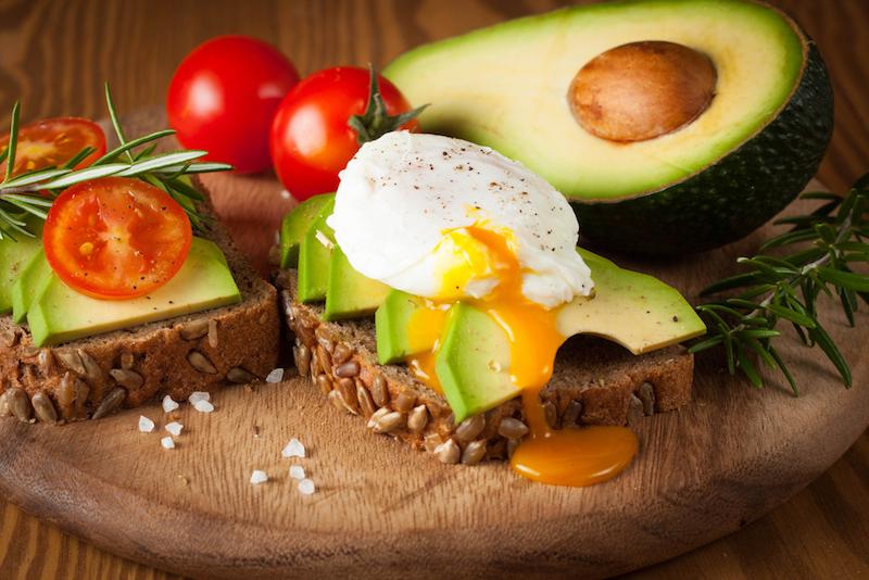 Yoga essen mittags Avocado