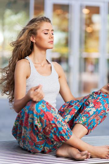 Yoga gegen Tinnitus Meditation