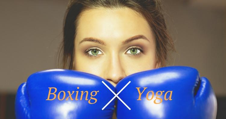 Boxing Yoga Frau