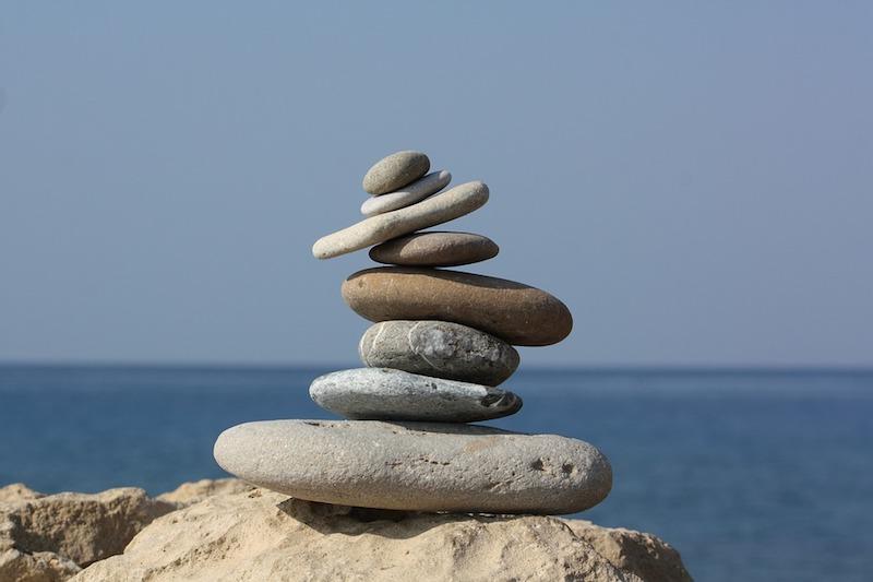 Entspannungsmethoden Steine