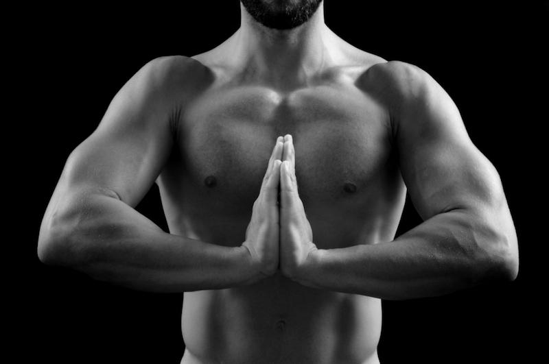 Yoga-und-Muskelaufbau-Beten