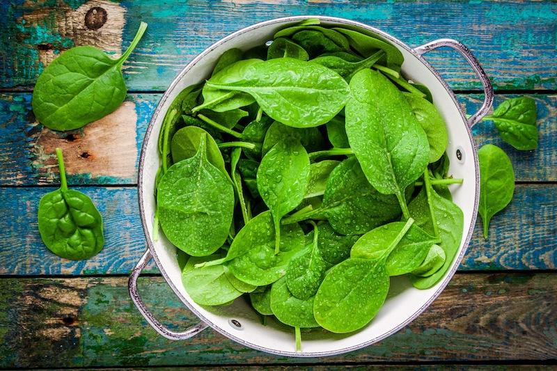 Lebensmittel-fuer-Vegetarier-Spinat